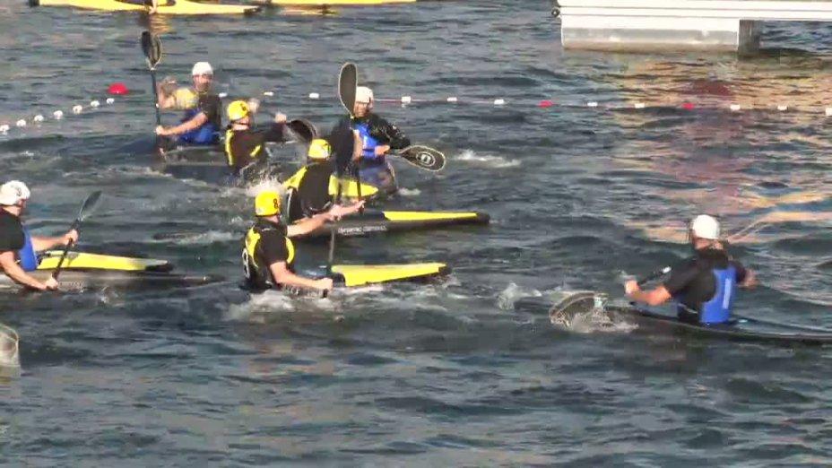 Spiel 59: W.K.V. gegen Deventer bei der European Club Championships Canoepolo 2012