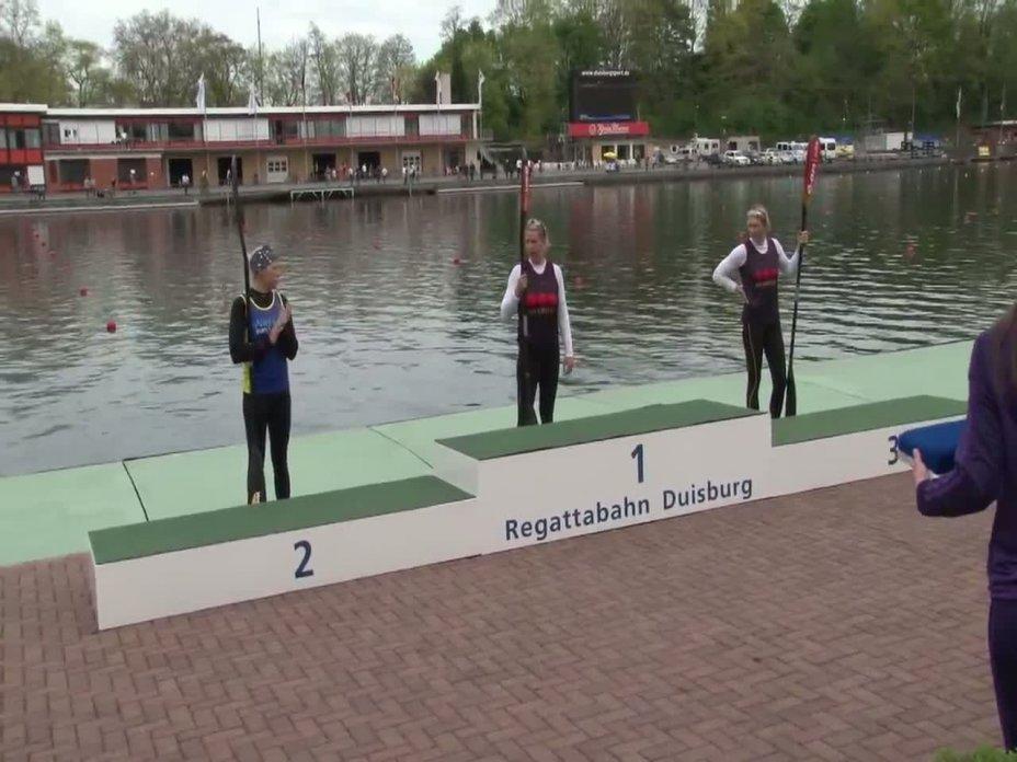 500m Finale Kajak-Damen - Einer DM 2012 Duisburg 28.04.2012
