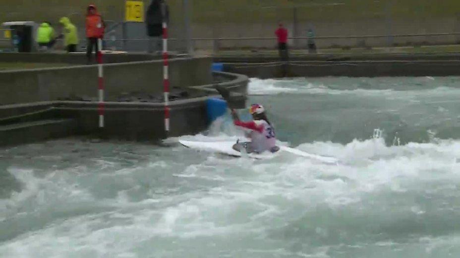 WOLFFHARDT VIKTORIA - FINAL Run | 2015 ICF Canoe Slalom Ranking - Markkleeberg