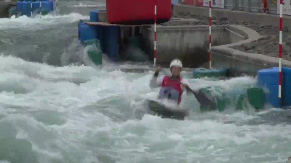 Caroline Trompeter - Quali 2015 |Rennen1|K1-Damen-Finale / Markkleeberg