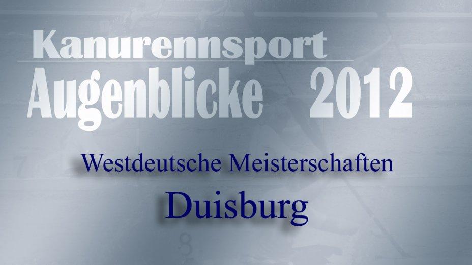 Kanurennsport Landesmeisterschaft NRW 2012