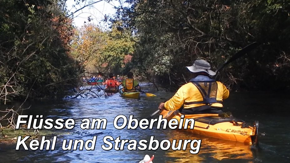 Fluesse am Oberrhein bei Kehl und Straßburg, Petite ILL, Krummer Rhine.