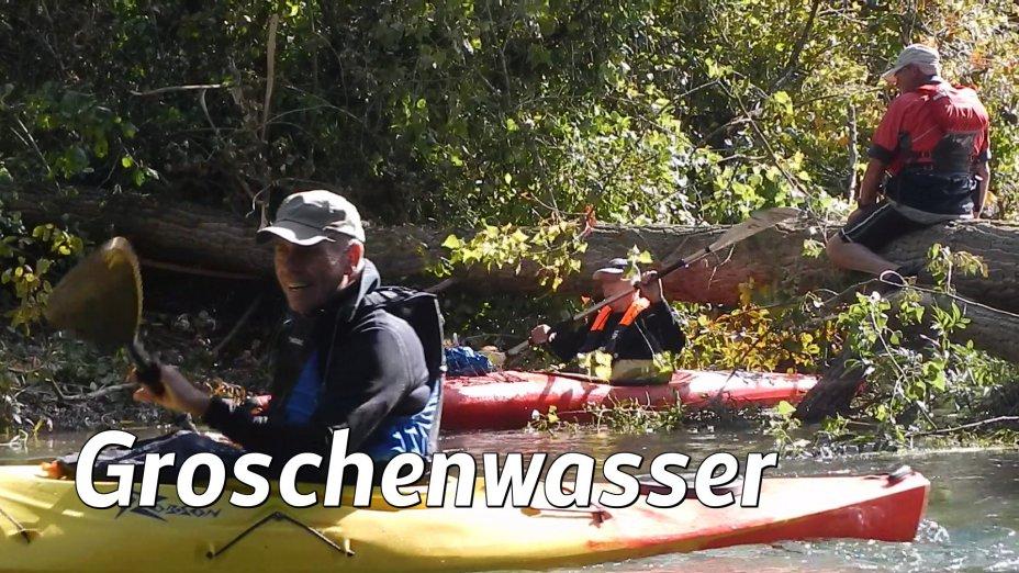 Kanutouren um Kehl und Strasbourg, Groschenwasser, untere ILL.