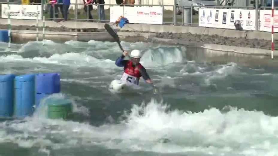 Damen K1 A-Finale 21.04.2013 Qualifikation Kanu-Slalom in Markkleeberg