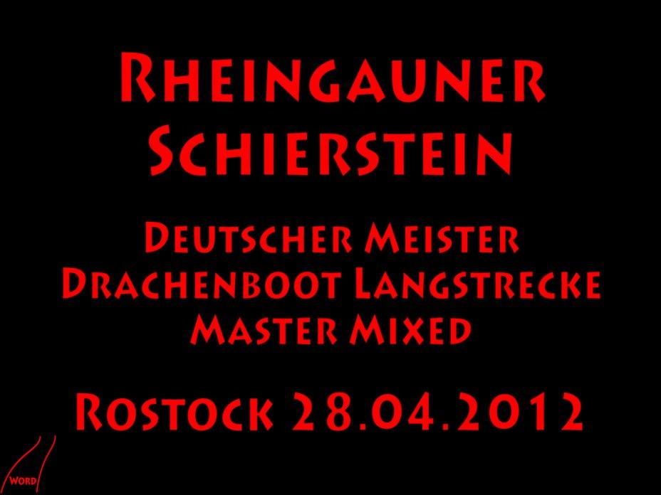"""Rheingauner"" Deutsche Meisterschaft Drachenboot Langstrecke 2012"